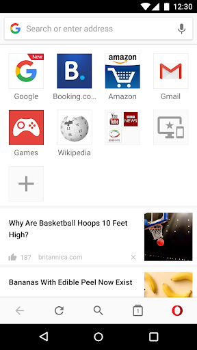 Opera browser – news amp search screenshots 2