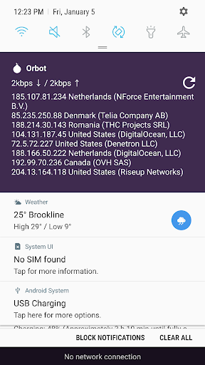 Orbot Proxy with Tor screenshots 3