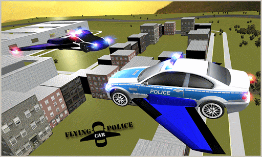 Flying Police Muscle Car 2017 screenshots 5