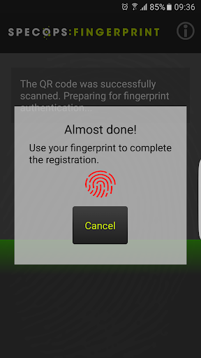 Specops Fingerprint screenshots 3