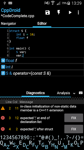 CppDroid – CC IDE 3.3.2 screenshots 1
