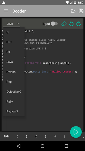Dcoder Compiler IDE Code amp Programming on mobile 1.6.15 screenshots 2