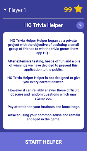 HQ Trivia Helper 1.3.8 screenshots 1