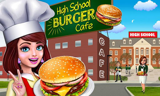 High School Caf Girl Burger Serving Cooking Game 1.6 screenshots 1