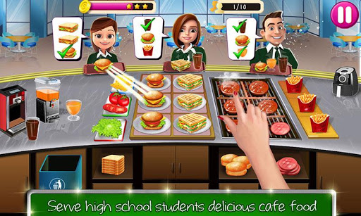 High School Caf Girl Burger Serving Cooking Game 1.6 screenshots 3