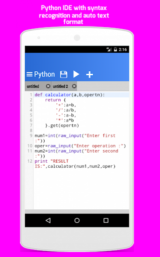 Python For Android 2.3.0 screenshots 2