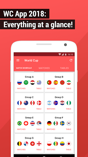 World Cup App 2018 – Live Scores amp Fixtures 4.1.5 screenshots 1