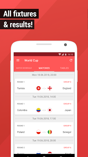 World Cup App 2018 – Live Scores amp Fixtures 4.1.5 screenshots 2