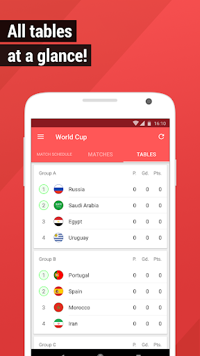 World Cup App 2018 – Live Scores amp Fixtures 4.1.5 screenshots 3