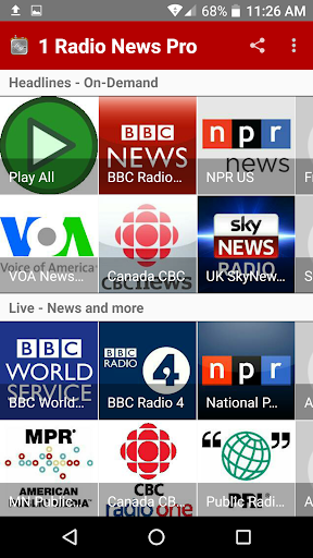 1 Radio News Pro More Features and Shows No Ads screenshots 1