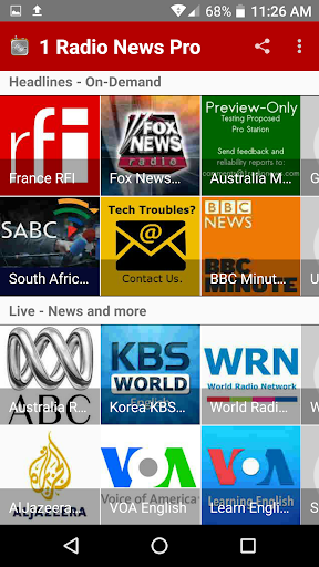 1 Radio News Pro More Features and Shows No Ads screenshots 4