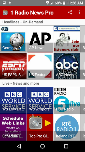 1 Radio News Pro More Features and Shows No Ads screenshots 5