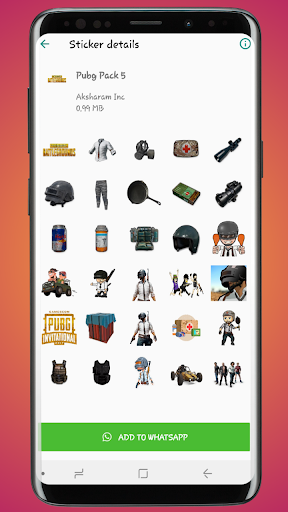 Stickers for PUBG – Sticker Pack for Whatsapp 1.3 screenshots 3