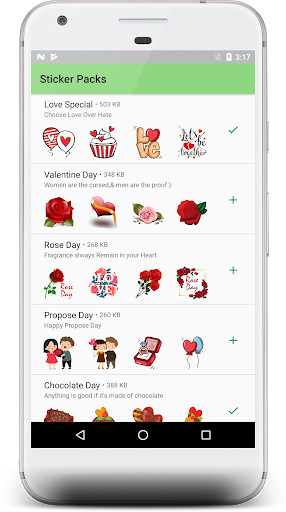 Love stickers packs -2019 1.01 screenshots 1