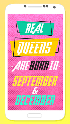 Queens Are Born In – Girly Lock Screen 1.0s screenshots 1