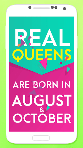 Queens Are Born In – Girly Lock Screen 1.0s screenshots 2