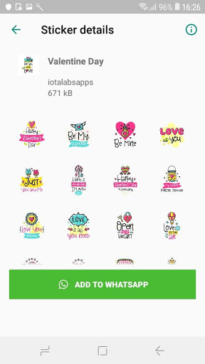 StickTimeWhatsapp Valentines Day Sticker-ADS FREE 0.2-pro screenshots 5
