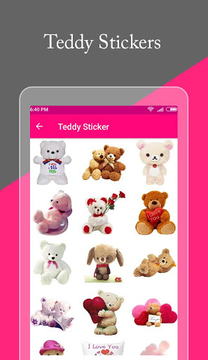Teddy day love Stickers amp Emoji- valentine day 1.1 screenshots 1