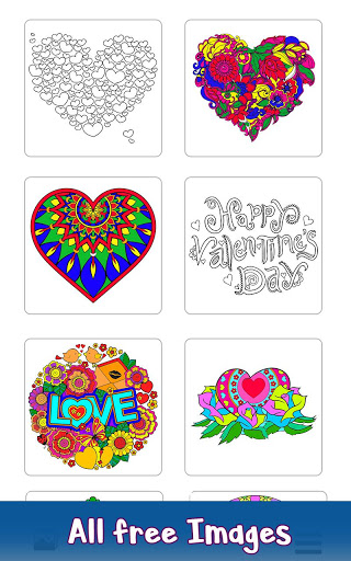 Valentine Color by Number – Paint by Numbers Pages 3.2 screenshots 1