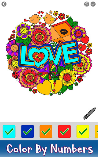 Valentine Color by Number – Paint by Numbers Pages 3.2 screenshots 2