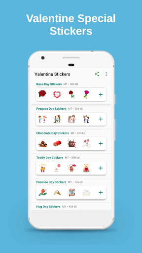 Valentine Love Feb Days Stickers for WhatsApp 1.1 screenshots 1