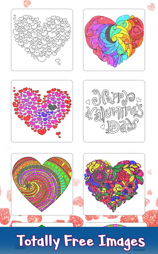 Valentine Love Glitter Color by Number Book Pages 3.0 screenshots 1