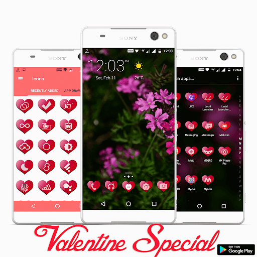 Valentine Premium – Icon Pack screenshots 1