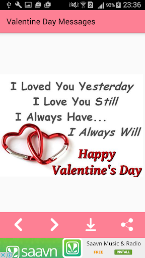 Valentine day MessagesImages Greeting Card Quotes 1.0 screenshots 2