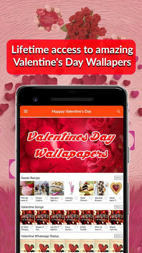 Valentines Day 2019 Wallpaper Quotes Songs Recipes 1.0 screenshots 2