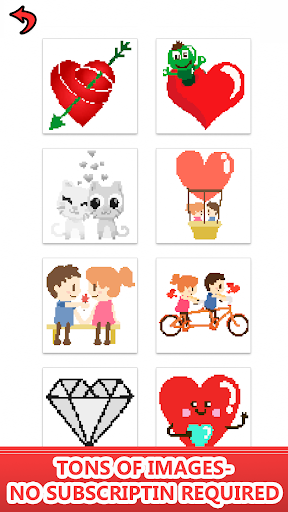 Valentines love color by number-Pixel art coloring 2.0 screenshots 1