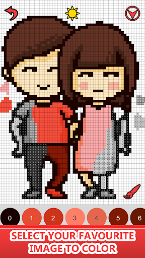 Valentines love color by number-Pixel art coloring 2.0 screenshots 2