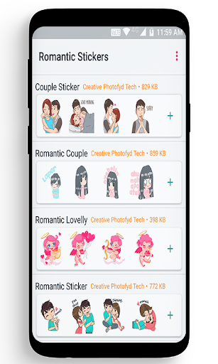 WaStickerApp Romantic – Love Sticker 1.0 screenshots 1
