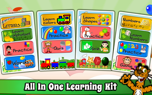 Kids Preschool Learning Games 2.0 screenshots 2