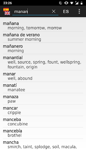 Spanish-English offline dict. 2.13-dico_eng_spa screenshots 1