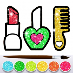 Download Full Glitter Beauty Accessories Coloring and drawing 9.0 APK MOD Unlimited Gems