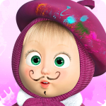 Download Full Masha and the Bear: Free Coloring Pages for Kids 1.6.2 MOD APK Unlimited Cash