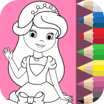 Download Full Princess Coloring Book ❤ 1.4.3 APK MOD Unlimited Money