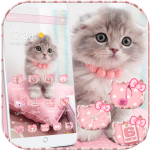 Download Full Pink Cute Kitty Cat Theme 1.1.6 MOD APK Full Unlimited