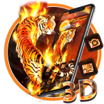 Get Fire Lion 3D Glass Tech Theme 🔥🐆 1.1.1 MOD APK Premium