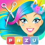 Download Girls Hair Salon Unicorn – Hairstyle kids games 1.06 APK MOD Unlocked